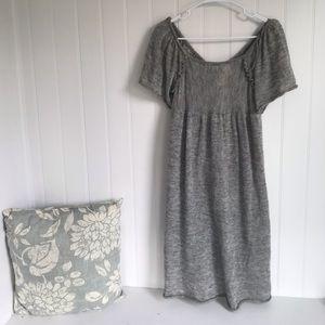 🌵 Anthropologie Moth Gray Wool Off Shoulder Dress
